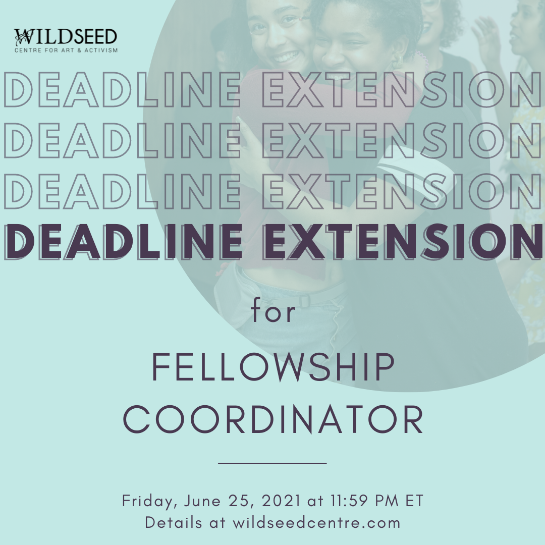Deadline extension for fellowship coordinator. Friday, June 25, 2021 at 11:59 PM ET.